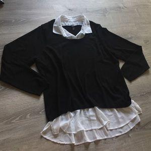 GNW Sweater w/ white Collar